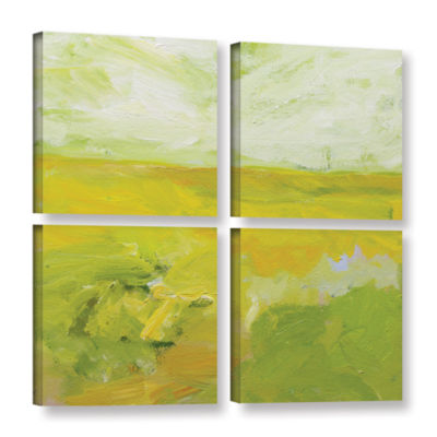 Brushstone Blackburn 4-pc. Square Gallery WrappedCanvas Wall Art