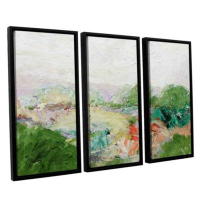 Brushstone Blackstone 3-pc. Floater Framed CanvasWall Art