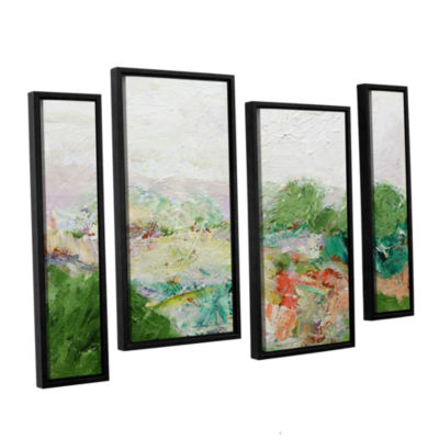 Brushstone Blackstone 4-pc. Floater Framed Staggered Canvas Wall Art