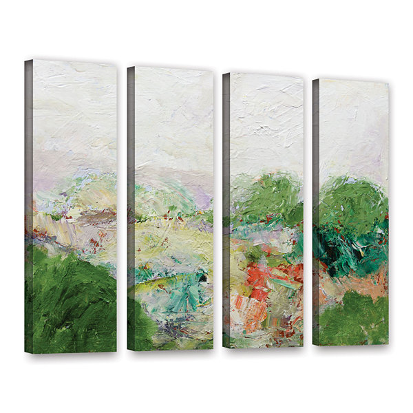 Brushstone Blackstone 4-pc. Gallery Wrapped CanvasWall Art