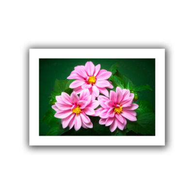 Brushstone Blooming Flowers Canvas Wall Art