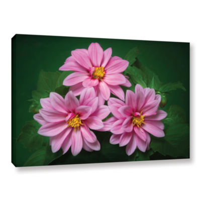 Blooming Flowers Gallery Wrapped Canvas Wall Art