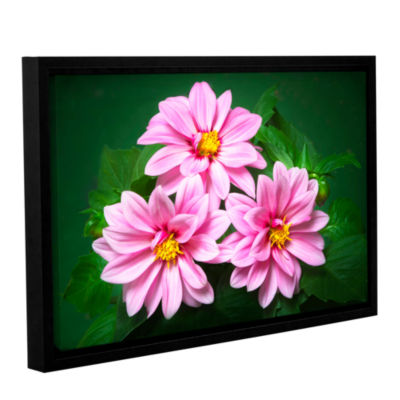 Brushstone Blooming Flowers Gallery Wrapped Floater-Framed Canvas Wall Art