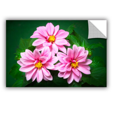 Brushstone Blooming Flowers Removable Wall Decal