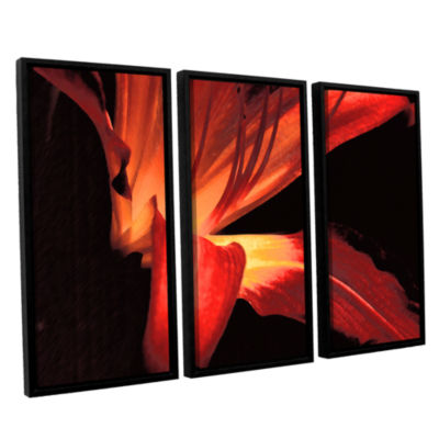 Brushstone Blossom Glow 3-pc. Floater Framed Canvas Wall Art