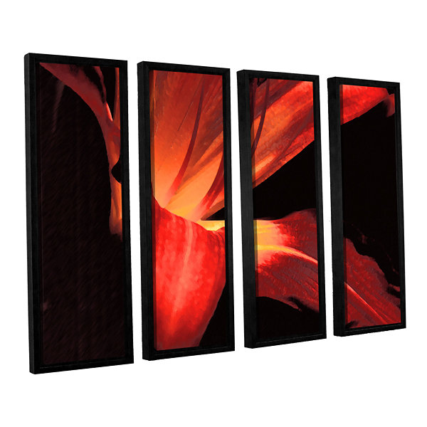 Brushstone Blossom Glow 4-pc. Floater Framed Canvas Wall Art