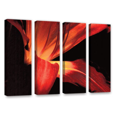 Brushstone Blossom Glow 4-pc. Gallery Wrapped Canvas Wall Art