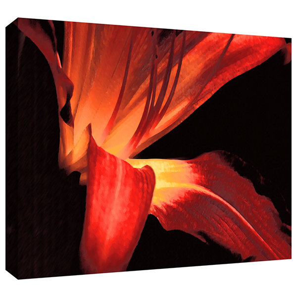 Brushstone Blossom Glow Gallery Wrapped Canvas Wall Art
