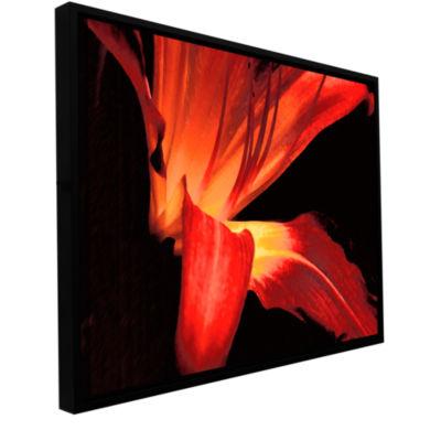 Brushstone Blossom Glow Gallery Wrapped Floater-Framed CanvasWall Art