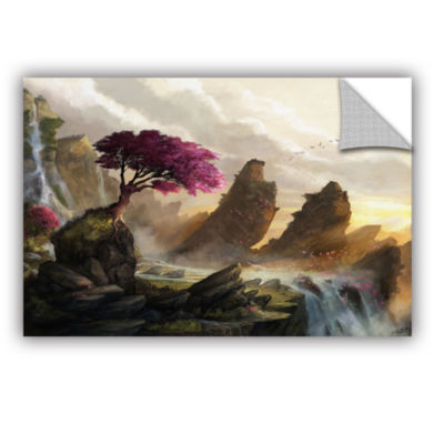 Brushstone Blossom Sunset Removable Wall Decal