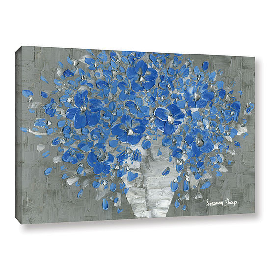 Blue Bouquet Gallery Wrapped Canvas Wall Art