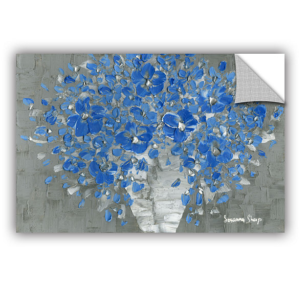 Blue Bouquet Removable Wall Decal