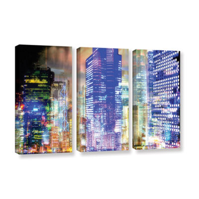 Blue Glow 3-pc. Gallery Wrapped Canvas Wall Art
