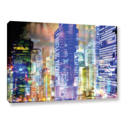 Blue Glow Gallery Wrapped Canvas Wall Art