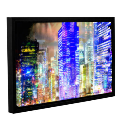 Blue Glow Gallery Wrapped Floater-Framed Canvas Wall Art