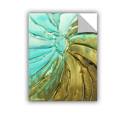 Blue Gold Swirl Removable Wall Decal