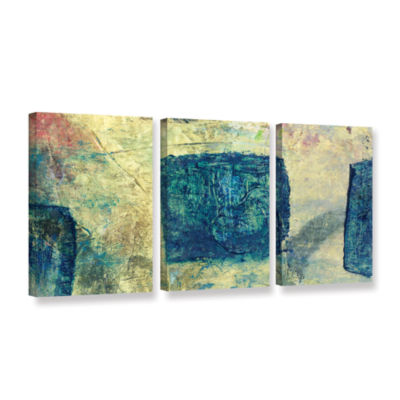Blue Golds 3-pc. Gallery Wrapped Canvas Wall Art