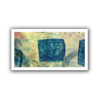 Blue Golds Canvas Wall Art