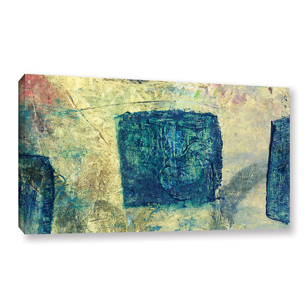 Blue Golds Gallery Wrapped Canvas Wall Art