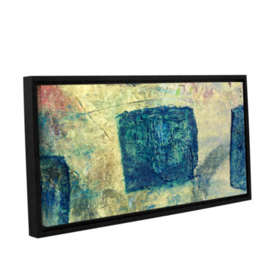 Blue Golds Gallery Wrapped Floater-Framed Canvas Wall Art