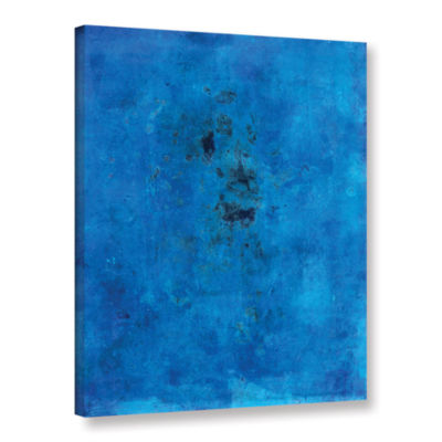 Blue Grunge Gallery Wrapped Canvas Wall Art
