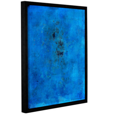 Blue Grunge Gallery Wrapped Floater-Framed Canvas Wall Art