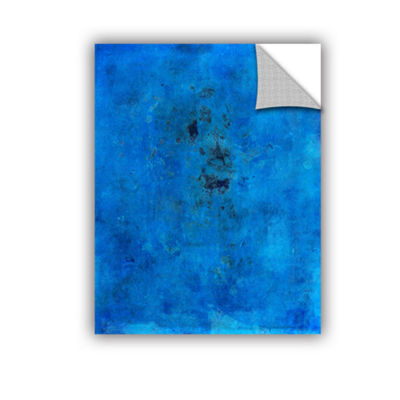 Blue Grunge Removable Wall Decal