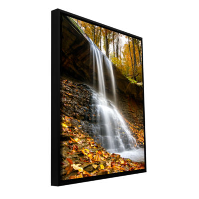 Blue Hen Falls 2 Gallery Wrapped Floater-Framed Canvas Wall Art