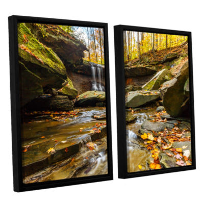 Blue Hen Falls 3 2-pc. Floater Framed Canvas WallArt