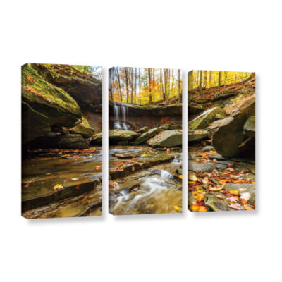 Blue Hen Falls 3 3-pc. Gallery Wrapped Canvas Wall Art