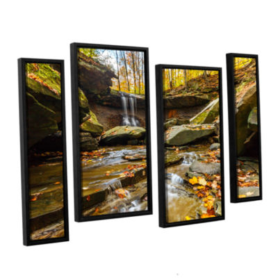 Blue Hen Falls 3 4-pc. Floater Framed Staggered Canvas Wall Art