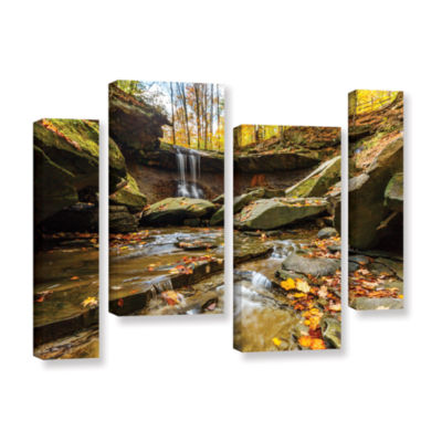 Blue Hen Falls 3 4-pc. Gallery Wrapped Staggered Canvas Wall Art