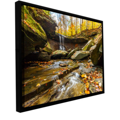 Blue Hen Falls 3 Gallery Wrapped Floater-Framed Canvas Wall Art
