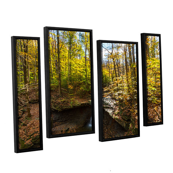 Blue Hen Falls 4-pc. Floater Framed Staggered Canvas Wall Art