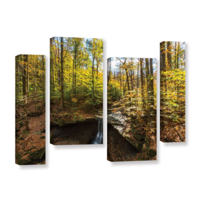 Blue Hen Falls 4-pc. Gallery Wrapped Staggered Canvas Wall Art