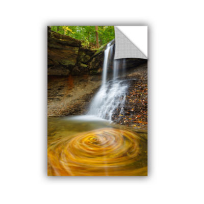 Blue Hen Falls Swirling Leaves Removable Wall Decal