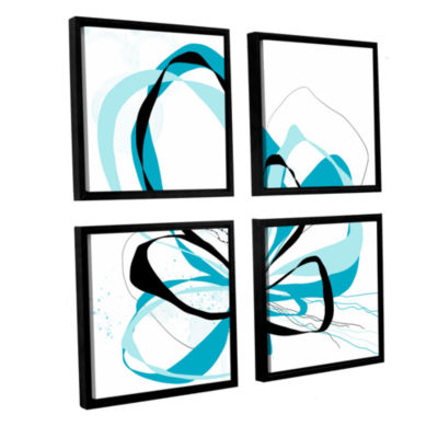 Blue Knot 4-pc. Square Floater Framed Canvas WallArt