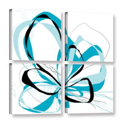 Blue Knot 4-pc. Square Gallery Wrapped Canvas WallArt