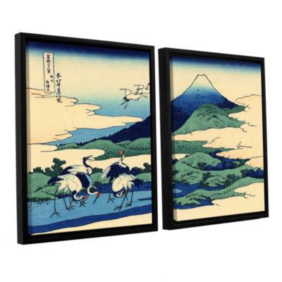 Blue Mt. Fuji At Dawn Near Oiso 2-pc. Floater Framed Canvas Wall Art