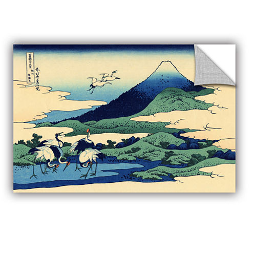 Blue Mt. Fuji At Dawn Near Oiso Removable Wall Decal