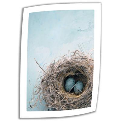Blue Nest Canvas Wall Art