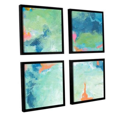 Brushtone Blue Skies 2 4-pc. Square Floater Framed Canvas Set