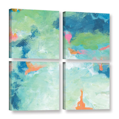 Blue Skies 2 4-pc. Square Gallery Wrapped Canvas Wall Art