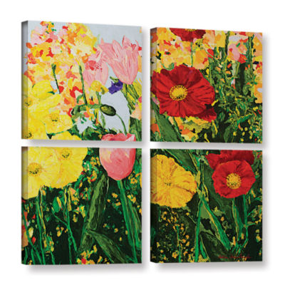 Blue Skies And Sunshine 4-pc. Square Gallery Wrapped Canvas Wall Art