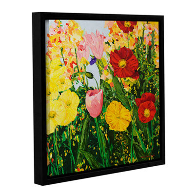Blue Skies And Sunshine Gallery Wrapped Floater-Framed Canvas Wall Art
