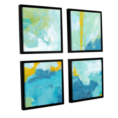 Blue Skies 4-pc. Square Floater Framed Canvas WallArt