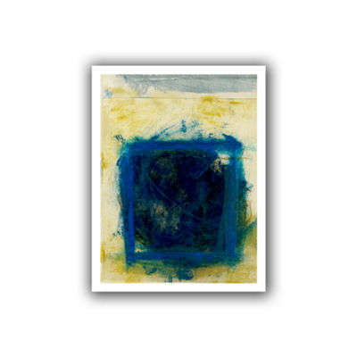 Blue Squares Canvas Wall Art