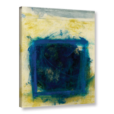 Blue Squares Gallery Wrapped Canvas Wall Art