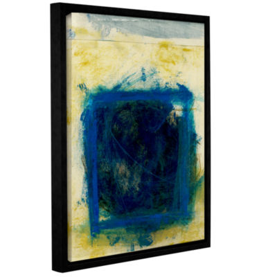 Blue Squares Gallery Wrapped Floater-Framed CanvasWall Art