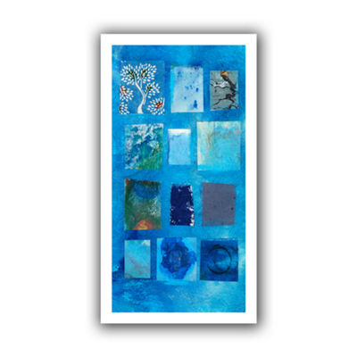 Blue Tree Collage Canvas Wall Art